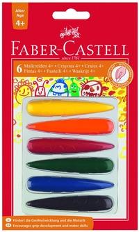 Krita Faber-Castell avlång 6 färger