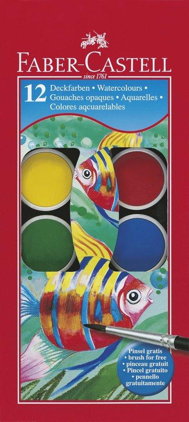 Färglåda Faber-Castell Akvarellfärg 12 färger