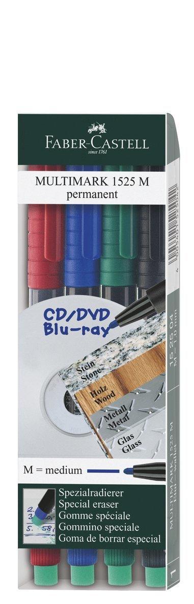 Märkpenna OH M 4 färger