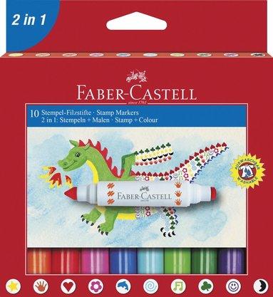 Stämpelpenna Faber-Castell 10 färger 1