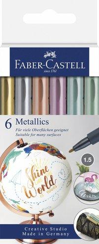 Tuschpenna Metallics 6-pack