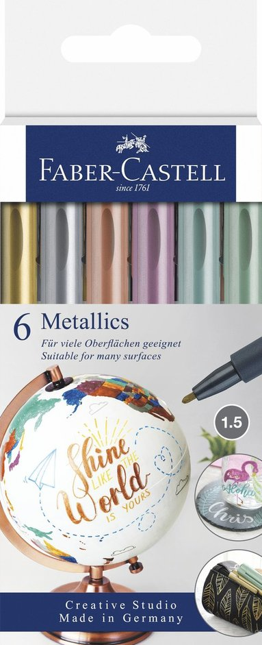 Tuschpenna Metallics 6-pack 1