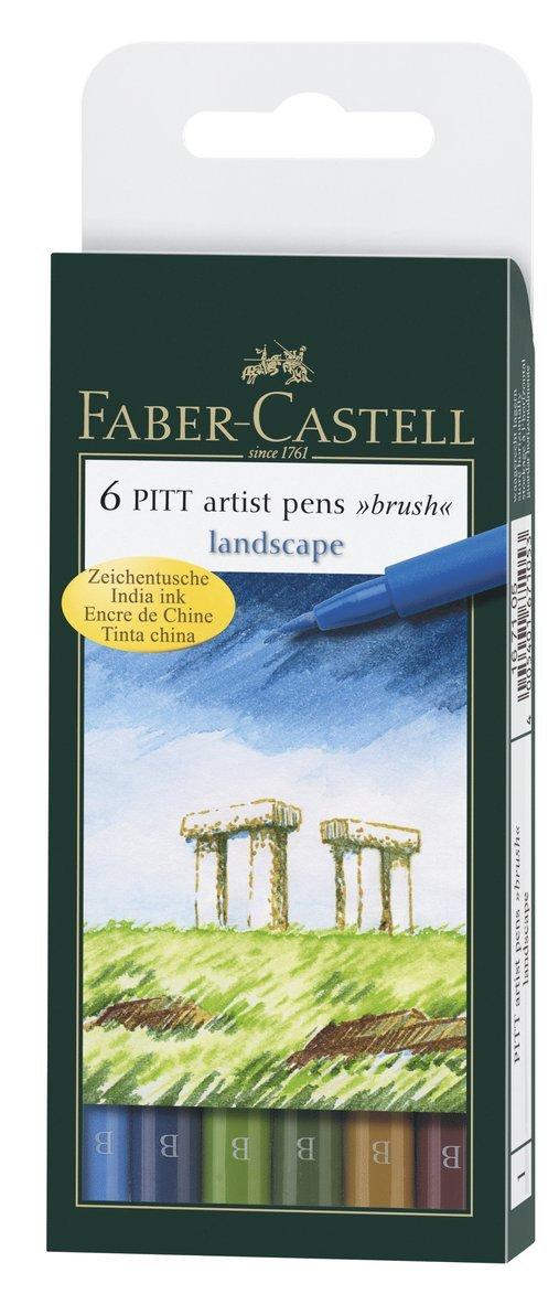 Pennset B PITT Artist Pen Landskap 6-pack 1