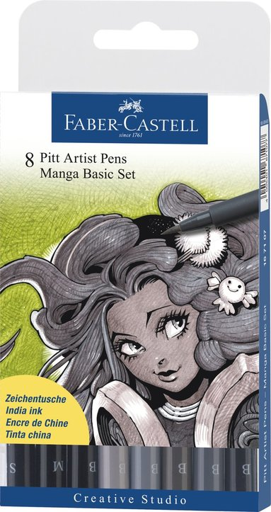 Pennset Manga Basic Set 8-pack gråskala