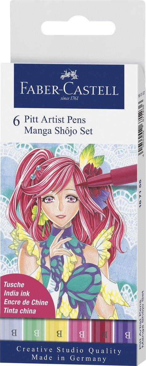 Pennset PITT Artist Pens Manga Shôjo Set 1