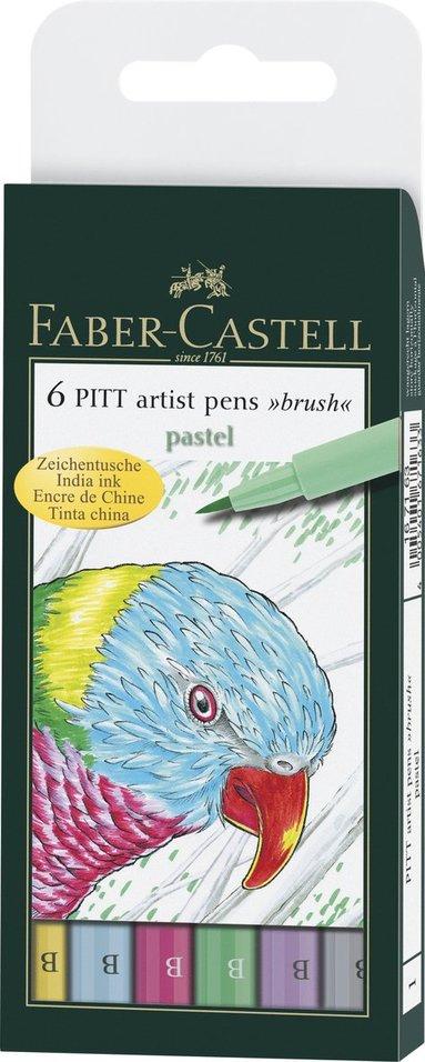 Pennset B PITT Artist Pen pastellfärger 6 färger