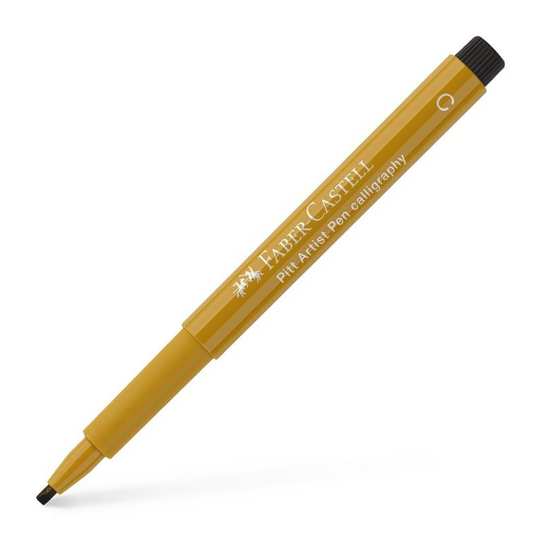 Kalligrafipenna PITT Artist Pen gröngul 1
