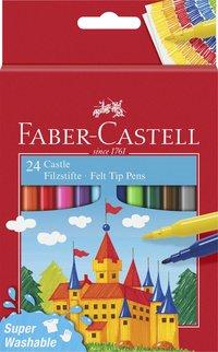 Fiberspetspenna Faber-Castell 24 färger