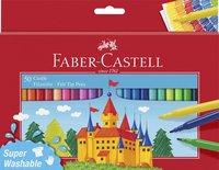 Fiberspetspenna Faber-Castell 50 färger