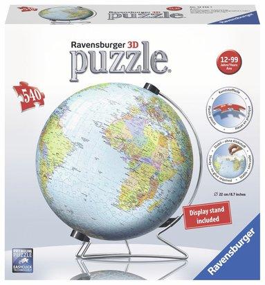 Pusselboll 540 bitar Världskarta 1