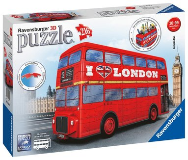 3D-pussel 216 bitar 3D London Bus 1