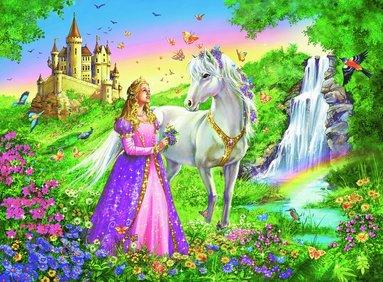 Pussel 200 bitar XXL Prinsessa med häst 2