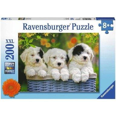 Pussel 200 bitar Cuddly Puppies