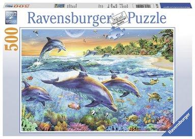 Pussel 500 bitar Delfiner