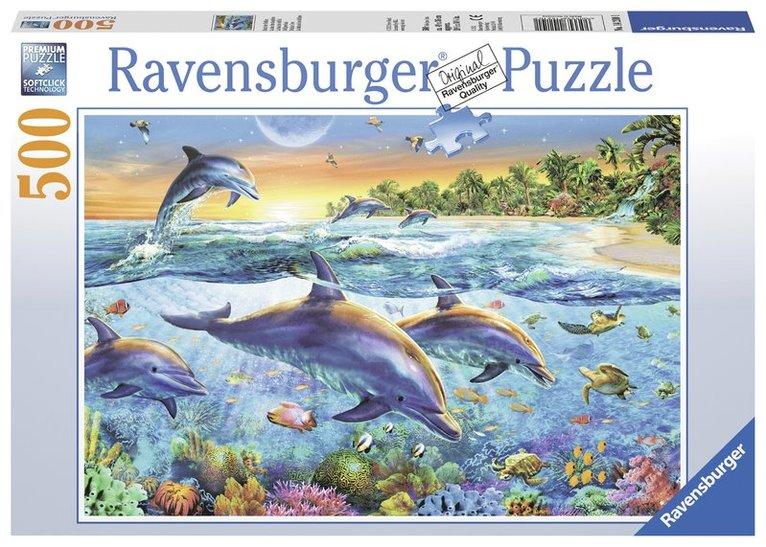 Pussel 500 bitar Delfiner 1