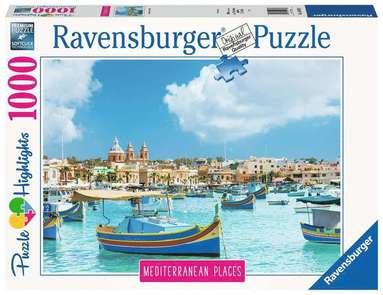 Pussel 1000 bitar Medierranean Places - Malta  1