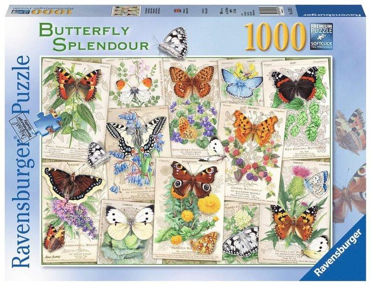 Pussel 1000 bitar Butterfly Splendour 1