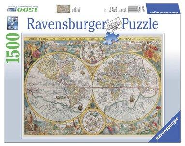 Pussel 1500 bitar Historisk världskarta 1