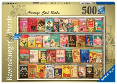 Pussel 500 bitar Vintage Cook Books  1