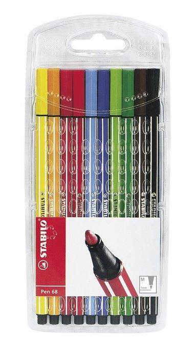 Fiberspetspenna Stabilo Pen 68 10-pack