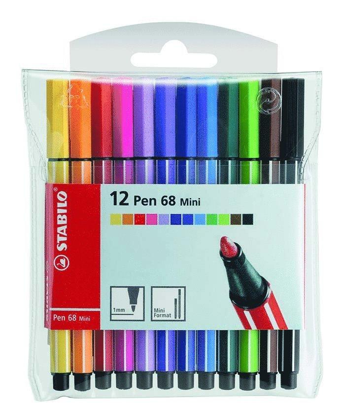 Fiberspetspenna Stabilo Pen 68 Mini 12 färger 1