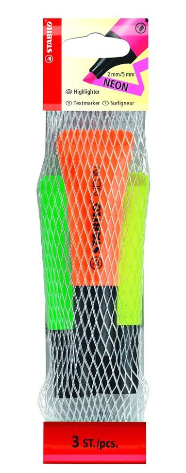 Överstrykningspenna Stabilo neon 3-pack