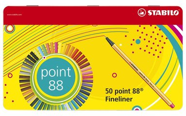 Fiberspetspenna Stabilo Point 88 50-pack