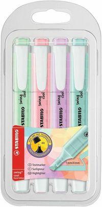 Överstrykningspenna Stabilo Swing Cool 4 färger