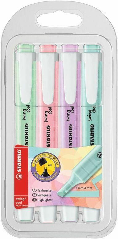 Överstrykningspenna Stabilo Swing 4 färger