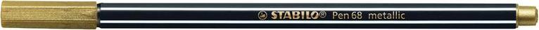 Fiberspetspenna Stabilo Pen 68 metallic guld 1