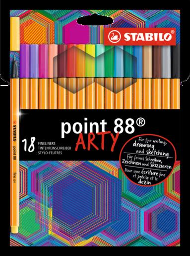 Fiberspetspenna Stabilo Point 88 Arty 18 färger