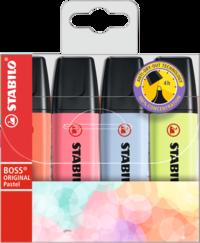 Överstrykningspenna Stabilo Boss pastell 4 färger