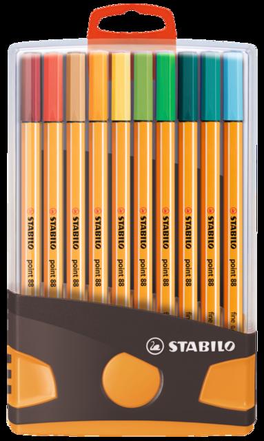 Fiberspetspenna Stabilo Point 88 Colorparade 20 färger 1