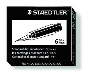 Bläckpatron Staedtler 6-pack svart 1