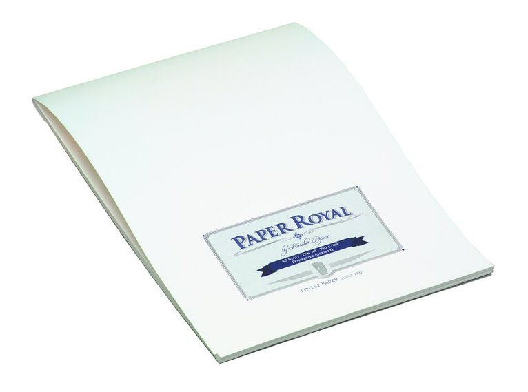 Brevblock A4 Paper Royal 40 blad marinblå/vit 1