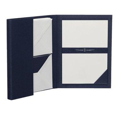 Brevmapp A5/C6 Paper Royal 15 st kuvert & 15 st ark marinblå/vit