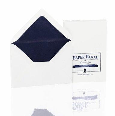 Kuvert C6 Paper Royal 20 st marinblå/vit