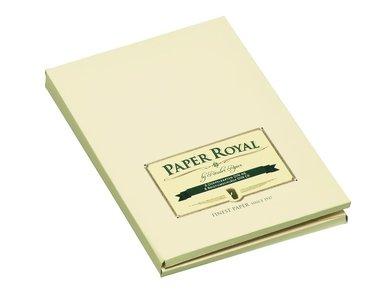 Korrespondenskort C6/A6 Paper Royal 8 st kuvert & 8 st ark grön/beige 1