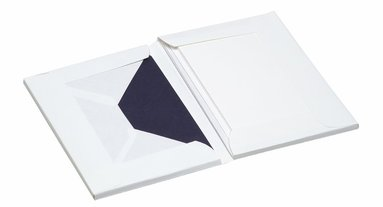 Korrespondenskort C6/A6 Paper Royal 8 st kuvert & 8 st ark marinblå/vit