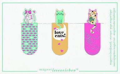 Bokmärke med magnet - Love Cats