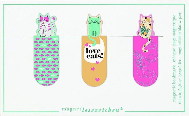 Bokmärke med magnet - Love Cats 1
