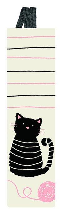 Bokmärke med band - katt