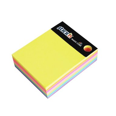 Notisblock Stick'n 76x76mm Magic Cube 7 neonfärger 1