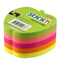 Notisblock Stick'n 76x76mm äppelform 5 neonfärger