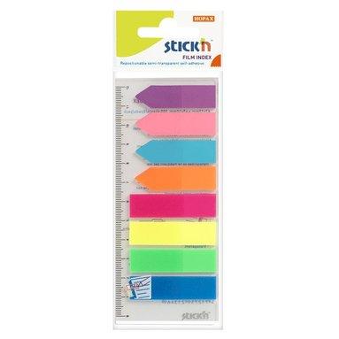 Notisflik Stick'n 45x12mm + 42x12mm 8 färger neon