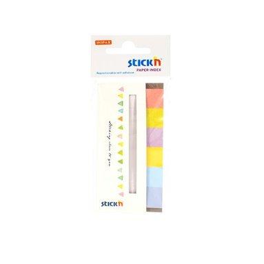 Notisflik 45X15mm papper Candy 6 färger