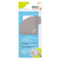 Notisblock 70x70mm Sticky Pocket lila/grå