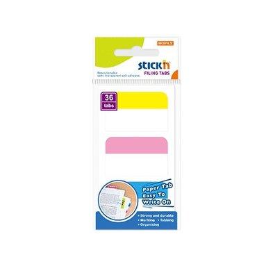 Notisflik 28x45mm papper 36blad 3 färger 1