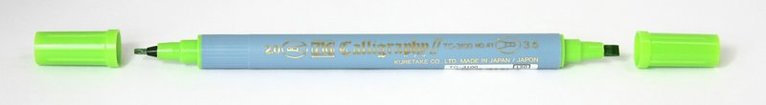 Kalligrafipenna TC-3100 ljusgrön 1