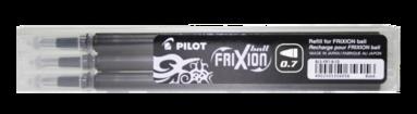 Patron Frixion Ball 0,7 3-pack svart